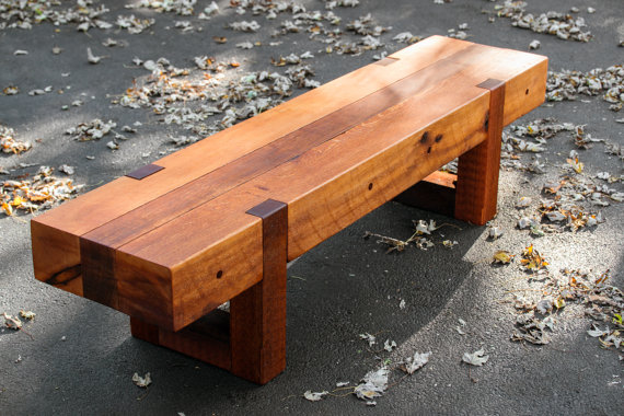 wood bench, outdoor bench, rustic bench